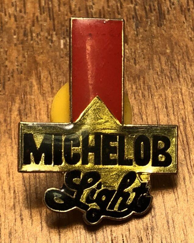 Vintage Michelob Light Beer Lapel Hat Pin Pinback ~ Anheuser Busch Missouri