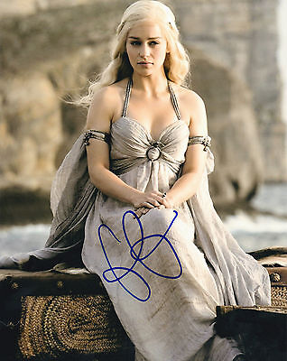 Emilia Clarke ++ Autogramm ++ Game of Thrones
