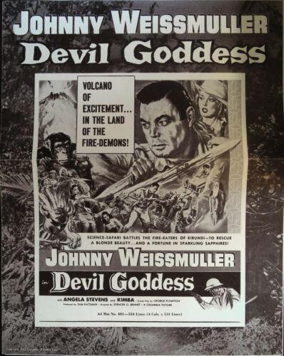 Devil Goddess Pressbook 1955 Johnny Weissmuller, Angela Stevens