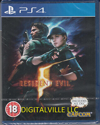 Resident Evil 5 HD PS4 Brand New factory Sealed