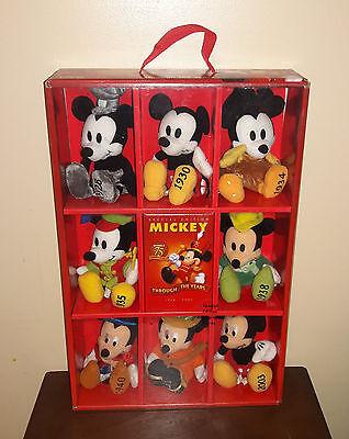 Disney Store Exclusive Mickey Through the Years Plush Set - 75th Anniversary