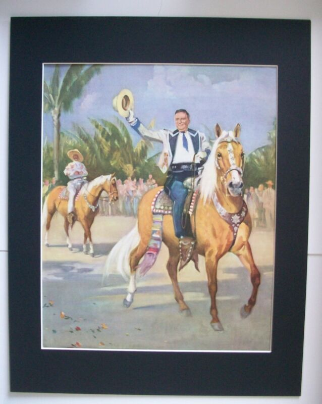 Palomino Horse Print Wesley Dennis Marguerite Henry Bookplate 1951 11x14 Matted