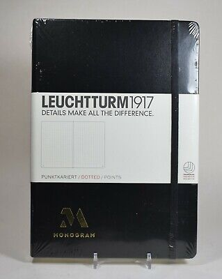 Leuchtturm1917 Medium A5 Dotted Hardcover Notebook Black - 251 Numbered Pages