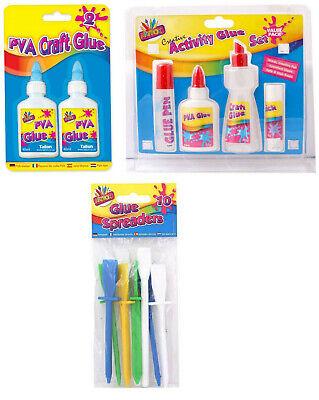 Kids Glue Set,Glue Pen,Glue Stick,White PVA craft Assorted Glue For Creative Fun