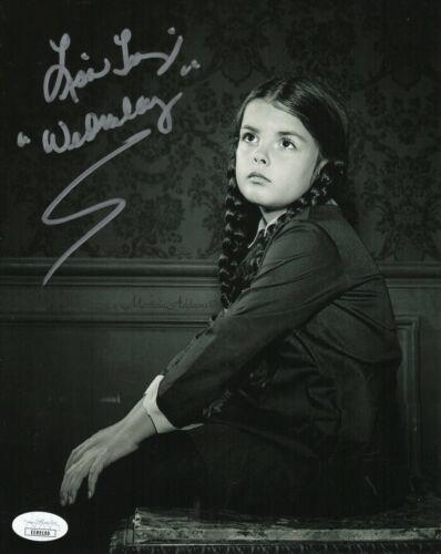 "Lisa Loring Autograph Signed 8x10 Photo - Addam's Family ""Wednesday"" (JSA COA)"