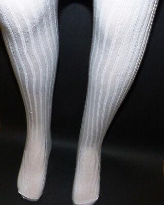 Beinlänge 44-51cm in Gr. 104,110,116 DÖLL Baumwolle  Mädchen Strumpfhose weiß