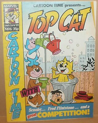 Cartoon Time No.6 Top Cat 24th June 1989 Marvel Hanna-Barbera