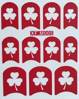 Shamrock Nail Art (Nail Art Decal Stencil Stickers Shamrock Clover St. Patricks Day)