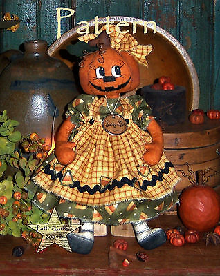 Primitive Patti's Ratties Pumpkin Ann Halloween Annie Doll Paper Pattern - 515 Halloween
