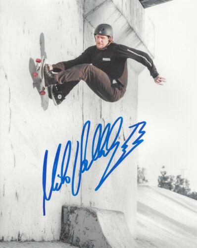 MIKE VALLELY SKATEBOARD LEGEND SIGNED 8X10 PHOTO E w/COA BONES BRIGADE PROOF