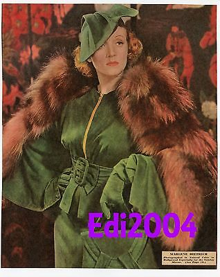 MARLENE DIETRICH Vintage Original COLOROTO 1936 SUNDAY MIRROR New York Cover