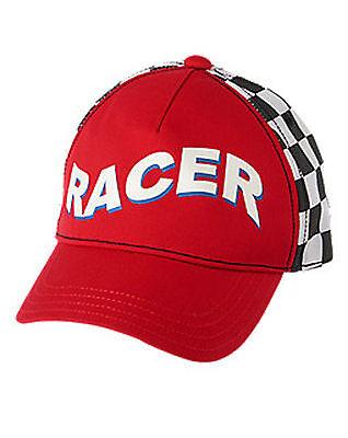 Gymboree baby boys Racecar Racer Driver Halloween Costume Hat Cap 6-12 mos. NEW