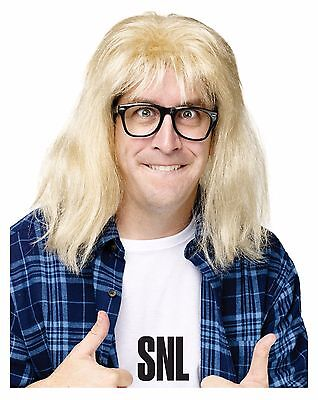 SNL Garth Algar Wig And Glasses Kit Wayne's World Adult Costume Accessory (Wayne Wig)