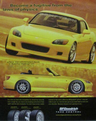 2005 Honda S2000 Print Ad (Yellow)
