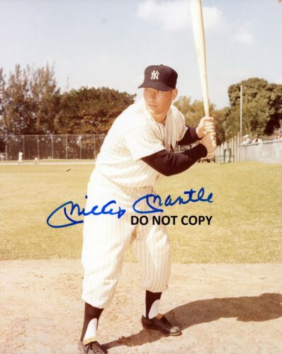 MICKEY MANTLE 8X10 AUTHENTIC IN PERSON SIGNED AUTOGRAPH REPRINT PHOTO PICTURE
