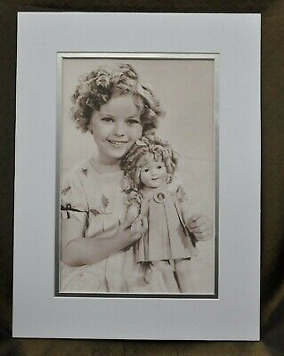 Shirley Temple Double-Matted Heavy Stock Photo Display 12
