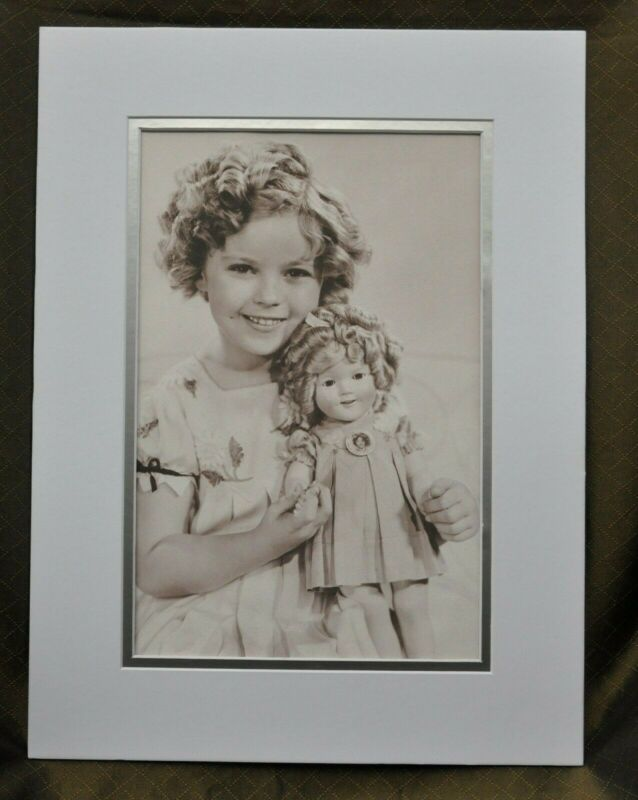 "Shirley Temple Double-Matted Heavy Stock Photo Display 12"" x 16"""