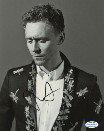 Tom Hiddleston Loki Avengers Thor Autographed Signed 8x10 Photo ACOA