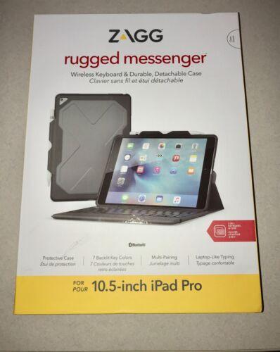 "ZAGG Rugged Messenger Book Keyboard Folio Case for Apple iPad Pro 10.5"" Black ID9RMK-BB0"