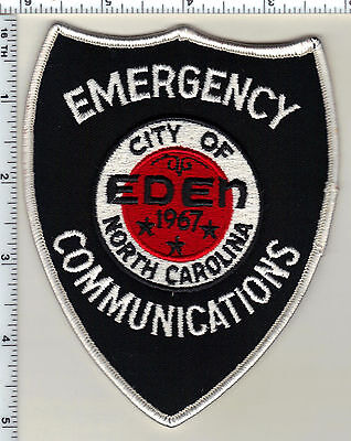 City of Eden Emergency Communications (North Carolina) Shoulder Patch from 1990