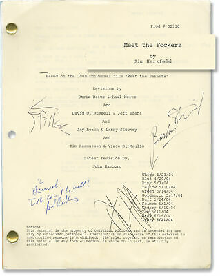 Jay Roach MEET THE FOCKERS Original screenplay for the 2004 film Signed #148584