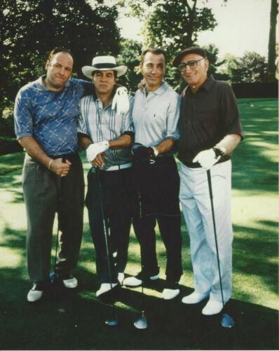 Tony SOPRANO and others 8x10 color photo on the golf course