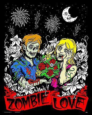 Zombie Love - Large 16x20 Inch Fuzzy Velvet Coloring - Velvet Coloring Posters