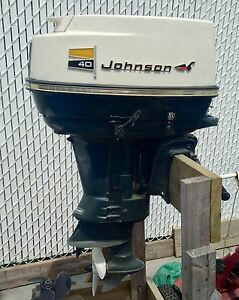 Johnson 40 Electric Outboard Boat motor 1970