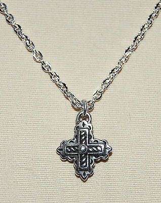 New BRIGHTON Eternity Cross silver BYZANTINE CROSS charm on custom necklace ! - Custom Necklace Charms