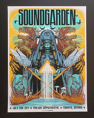 SOUNDGARDEN 2011 TORONTO SILKSCREEN CONCERT POSTER Art By MUNK ONE