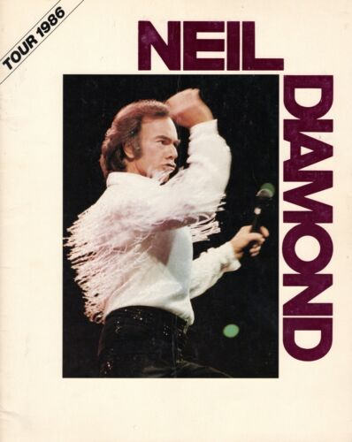 NEIL DIAMOND 1986 HEADED FOR THE FUTURE TOUR CONCERT PROGRAM BOOK-EX TO NMT