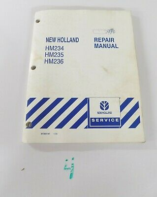 New Holland Hm234 Hm235 Hm236 Disc Mower Shop Service Repair Manual 100