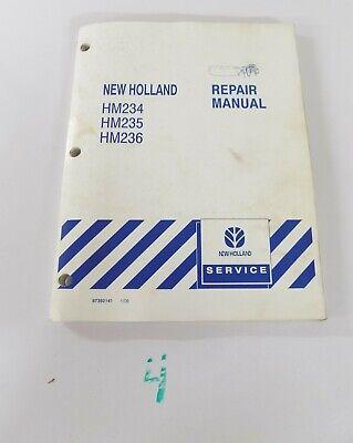 New Holland Hm234 Hm235 Hm236 Disc Mower Shop Service Repair Manual 100