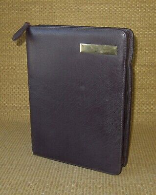 Classic Franklin Coveyquest Burgundy Leather 1.5 Rings Zip Plannerbinder