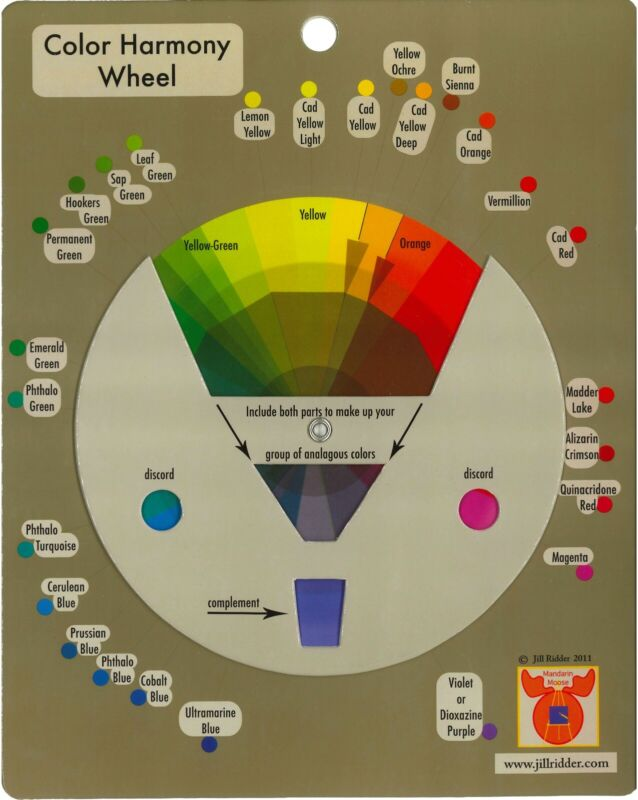 Color Harmony Wheel by Mandarin Moose - The Perfect Tool for Outstanding Art