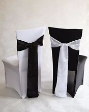 Black Lycra spandex chair cover white Lycra spandex Chair cover St Marys Penrith Area Preview