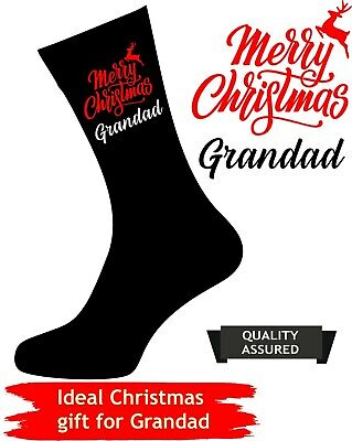 Personalised CHRISTMAS Socks NOVELTY Gift Dad Daddy Grandad Uncle present idea ()