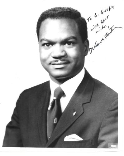 Walter E. Fauntroy. Former Civil Rights activist. B/w, 8x10,Signd Photo & Letter