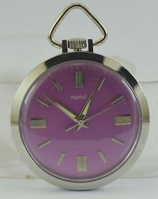 Vintage HMT 17Jewels Winding Pocket Watch For Unisex Use Working Good D-233-13