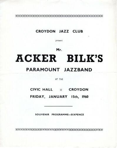 Jazz Programme Acker Bilk