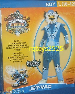 Skylander Giants JET-VAC Costume Size 10-12 Large New Childs Halloween costume