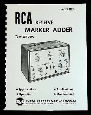 Rca Wr-70a Rfifvf Marker Adder Manual