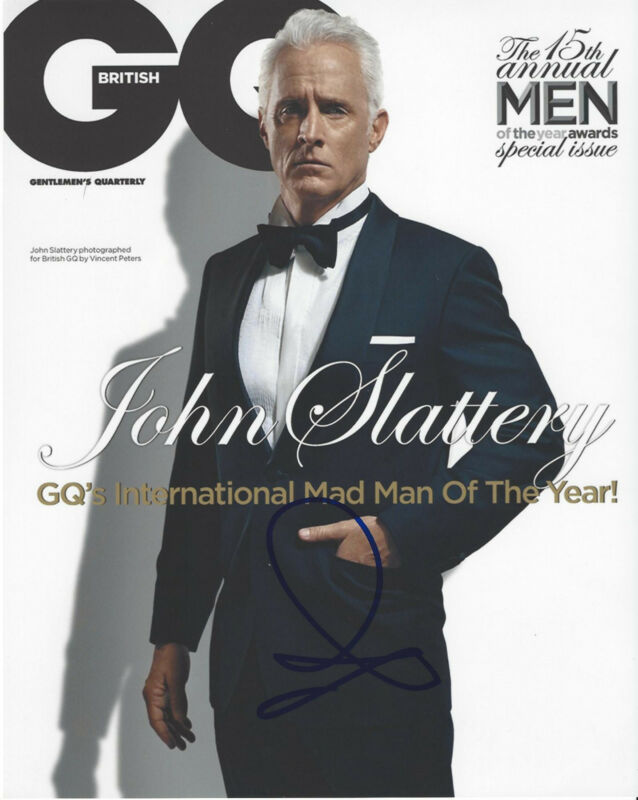 JOHN SLATTERY SIGNED AUTHENTIC 'MAD MEN' GQ 8X10 PHOTO w/COA ACTOR TED 2 ANT MAN