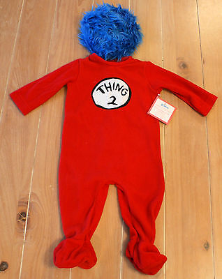 New Pottery Barn Kids Dr. Seuss THING 2 Costume Baby Infant Size 6-12 Months - Dr Seuss Infant Costumes