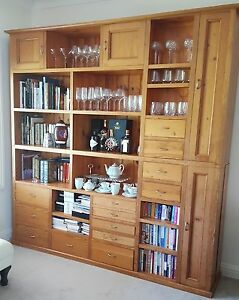 FREE Glass storage or Book case shelves/ Bar storage wooden Yowie Bay Sutherland Area Preview