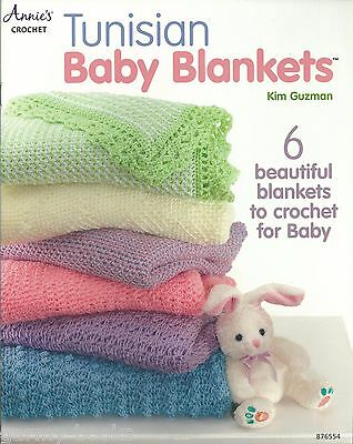 Tunisian Baby Blankets Kim Guzman Crochet Instruction Patterns Annie's Attic NEW, used for sale  Shipping to India