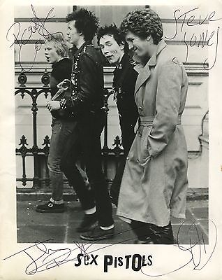 Sex Pistols Sid Vicious SIGNED Photo 1st Generation PRINT No'd + Certificate /4