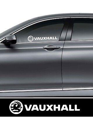 2 X Vauxhall  Vinyl Decal Car/Van/Truck/Bumper/Window Vinyl Sticker Jdm Dub
