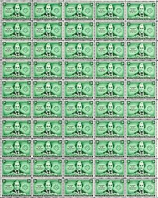 - JULIETTE LOW - GIRL SCOUTS (1948) - #974 Full Mint Sheet of 50 Postage Stamps