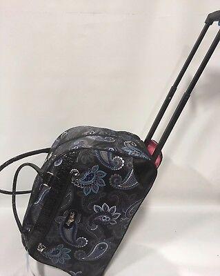 NEW KATHY VAN ZEALAND DIVA BLACK WHEELED DUFFLE LUGGAGE CITY BAG 120 - $44.95
